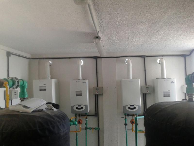 Caldeira de agua quente a gas